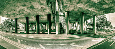 Photograph - Under The Viaduct C Panoramic Urban View by Jacek Wojnarowski