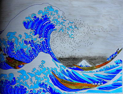 Photograph - Under The Wave, Off Kanagawa After Katsushika Hokusai by Betty-Anne McDonald