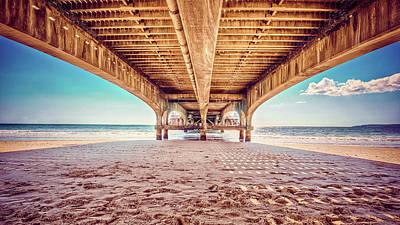 Photograph - Under The Wooden Piear On A Sand Beach Art by Wall Art Prints