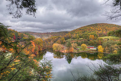 Fall In New England Photograph - Under Threatening Skies by Bill Wakeley