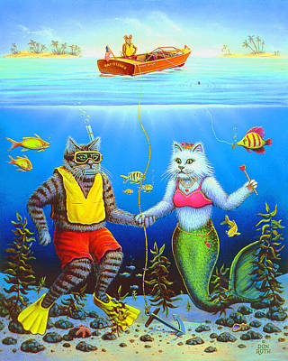 Painting - Under Water Romance by Don Roth