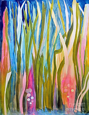 Art Print featuring the painting Under Water by Sandy McIntire