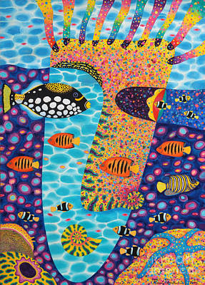 Under Water World 3 Art Print by Opas Chotiphantawanon