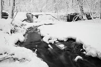 Photograph - Under Winter's Blanket Bw by Joe Miller