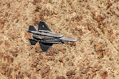 Photograph - Underbelly Of A F35 Lightning In Star Wars Canyon by Bill Gallagher