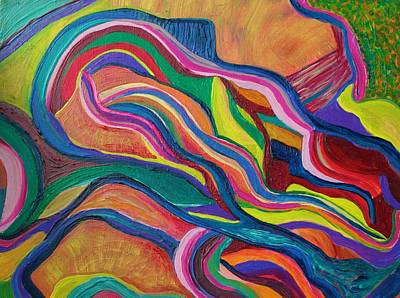 Painting - Undercurrent by Polly Castor
