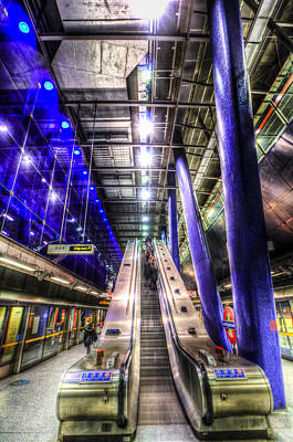 Underground Escalator Art Print by David Pyatt