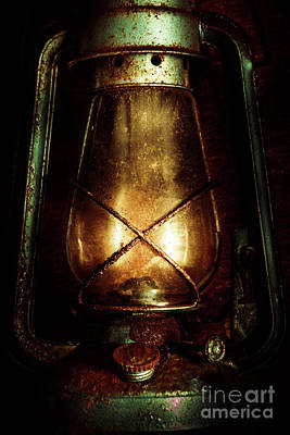 Gas Lamp Photograph - Underground Mining Lamp  by Jorgo Photography - Wall Art Gallery