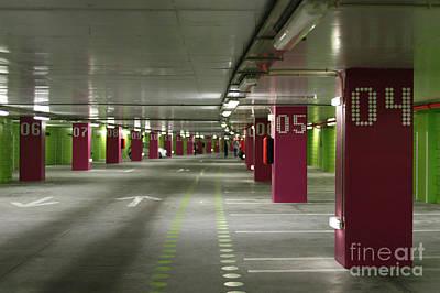 Underground Parking Lot Art Print by Gaspar Avila