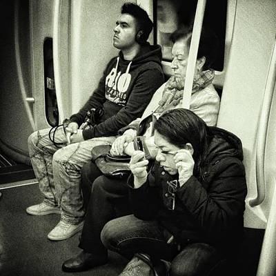 London Photograph - Underground Rimmel #blackandwhite by Rafa Rivas