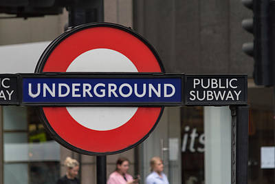 Photograph - Underground Sign London by Jacek Wojnarowski
