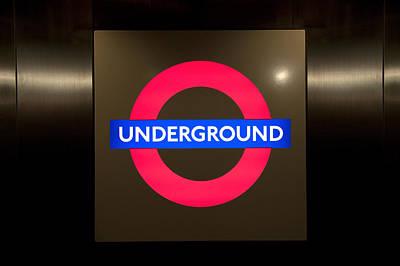 Underground Sign Art Print by Svetlana Sewell