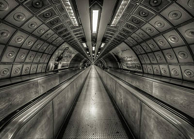Underground Tunnel Art Print by Vulture Labs