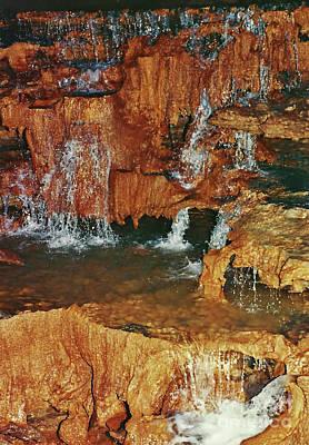 Photograph - Underground Water Falls by D Hackett