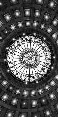Photograph - Underneath A Rotunda Bw by Emmanuel Panagiotakis