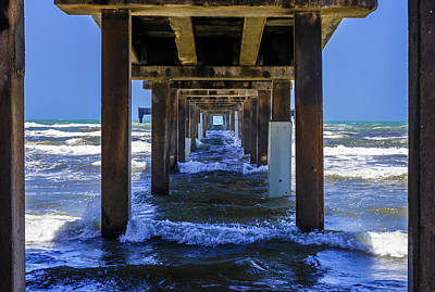 Photograph - Underneath Bob Hall Pier - Padre Island by Debra Martz