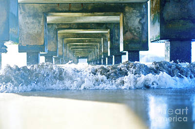 Seafoam Abstract Photograph - Underneath Hanalei Pier by Kicka Witte - Printscapes