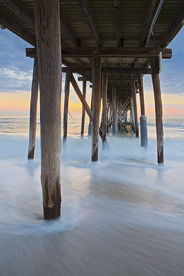 Photograph - Underneath The Pier At The Jersey Shore  by Susan Candelario