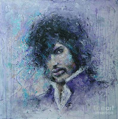 Grammy Winners Painting - Underneath The Purple Rain by Dan Campbell
