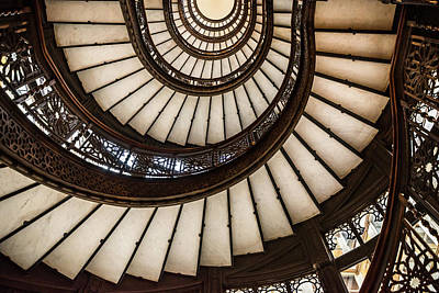 Photograph - Underneath The Rookery Staircase by Anthony Doudt