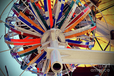Vollis Simpson Photograph - Underneath The Whirligig by Mylinda Revell
