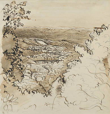 Drawing - Underriver - The Golden Valley by John Linnell
