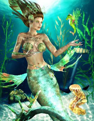 Companion Digital Art - Undersea Companions by Brandy Thomas