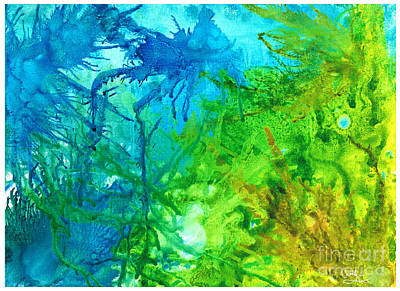 Painting - Undersea Corals by Cathlyn Driscoll