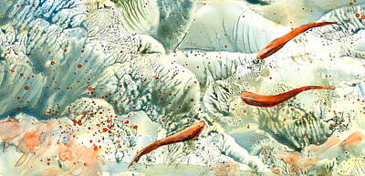 Wall Art - Painting - Undersea by Debra LePage