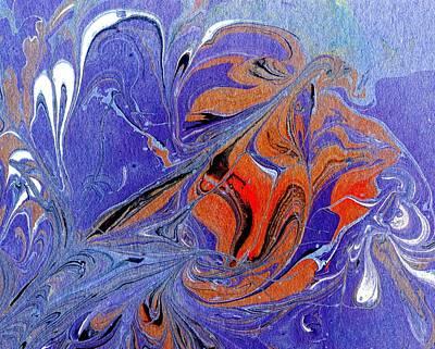 Trippy Painting - Undersea Eruption  by Karin Kohlmeier