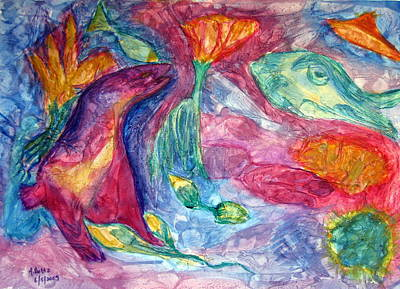 Painting - Undersea Fantasy by Arlene Holtz