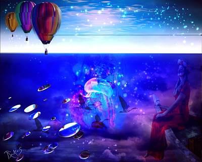 Digital Art - Undersea Flight by Diana Riukas