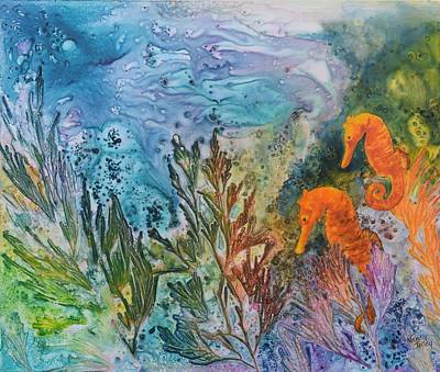 Painting - Undersea Garden by Nancy Jolley
