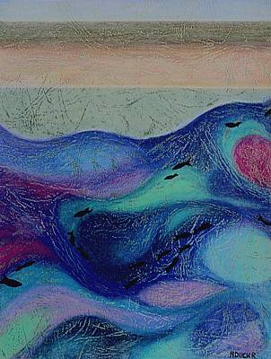 Mixed Media - Undersea Movement by Norma Duch