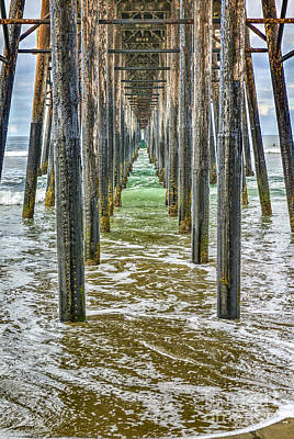 Photograph - Underside Of Oceanside Pier by David Zanzinger