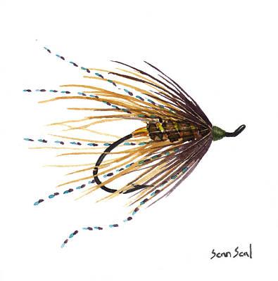 Flyfishing Painting - Undertaker Mardi Gras by Sean Seal