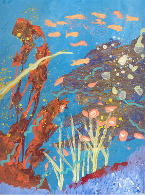 Painting - Underwater Abstract No. 2 by Helene Henderson
