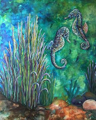 Painting - Underwater Bliss by FayBecca Designs