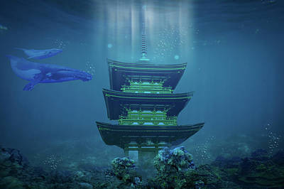 Underwater Dojo Art Print by Mason Born