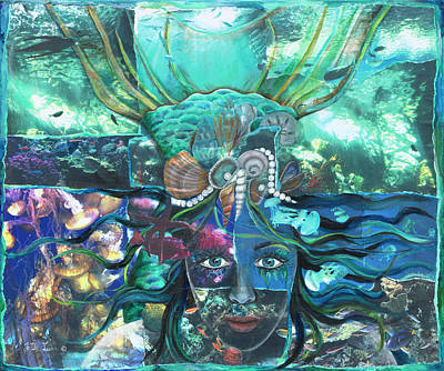 Mixed Media - Underwater Enchantment by JoDee Luna