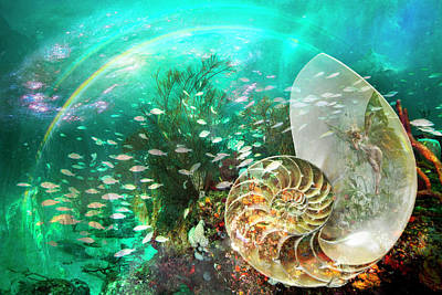 Digital Art - Underwater Fairyland by Debra and Dave Vanderlaan