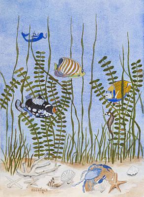 Triggerfish Painting - Underwater Fantasy by John Edebohls