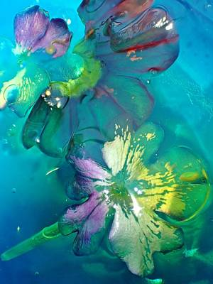 Photograph - Underwater Flower Abstraction 3 by Lorella Schoales
