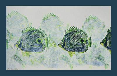 Painting - Underwater Impressions by Dee Van Houten