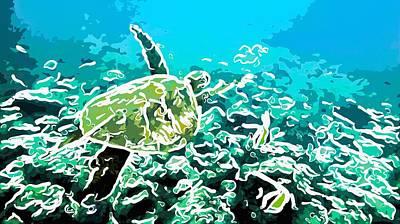 Underwater Landscape 1 Art Print by Lanjee Chee