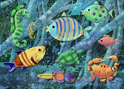 Sealife Digital Art - Underwater Maze by Arline Wagner