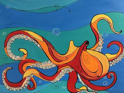 Easterseals Painting - Underwater Motion by Ana L