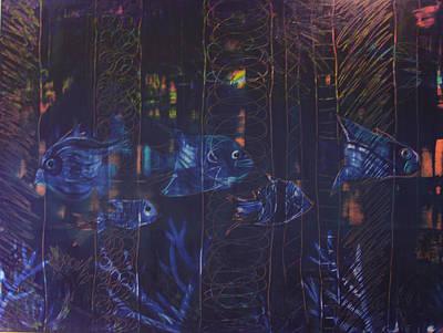 Abstractabstract Painting - Underwater Reef by Karla Britfeld