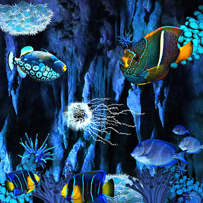 Digital Art - Underwater Refuge by Artful Oasis