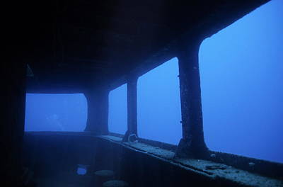 Toho Photograph - Underwater Remains Of The Toho Shipwreck by Sami Sarkis